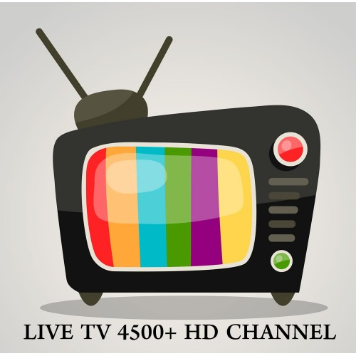 IPTV 4500+ Live HD TV Channel 1 Year