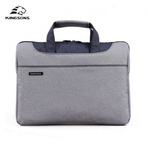 Kingsons Men-Women Laptop HandBag 15 Inch Grey