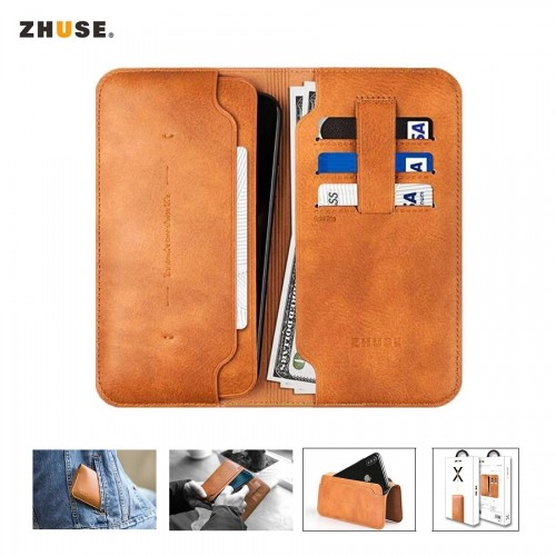 ZHUSE X SERIES LEATHER WALLET FOR SMARTPHONES