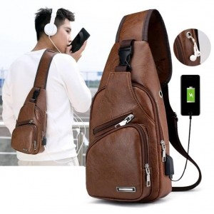 Unisex Crossbody Fashion Backpack Brown