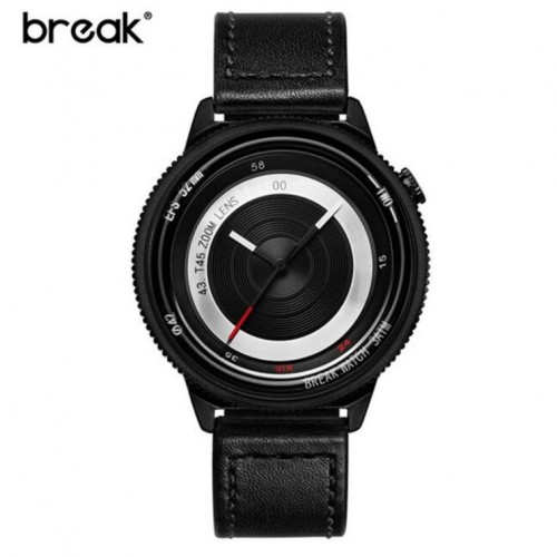 Original Break Photographer Series B45 Model Leather Watch Black