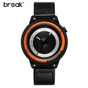 Original Break Photographer Series B45 Model Leather Watch Orange Black