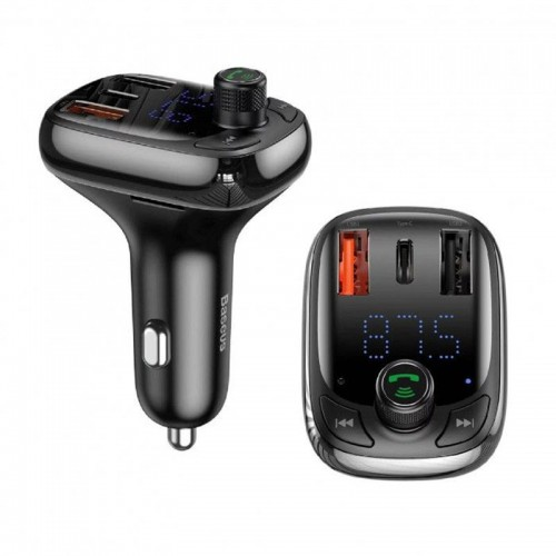 BASEUS S-13 T-Type Bluetooth MP3 Car Charger (Standard Edition)