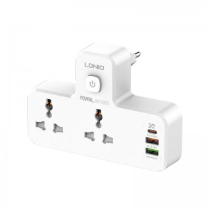 LDNIO SC2311 20W 3-Port USB Charger Extension Power Strip