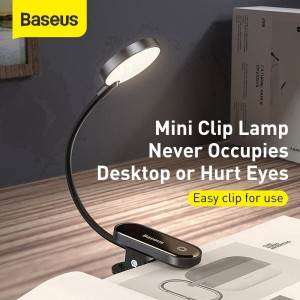 Baseus Comfort Reading Mini Clip Lamp Eye Protection Light