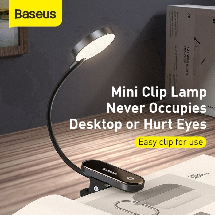 Image result for BASEUS Comfort Reading Mini Clip Lamp Eye Protection Light
