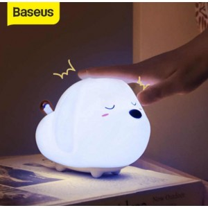 Baseus Cute LED Night Light Soft Silicone Touch Sensor Night