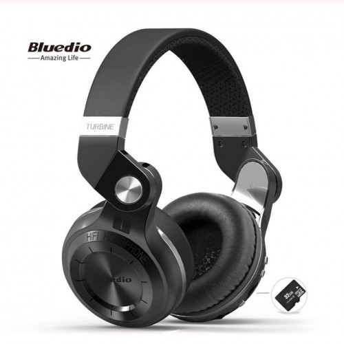 Bluedio T2+ Bluetooth Headphone Support FM & SD card With Mic