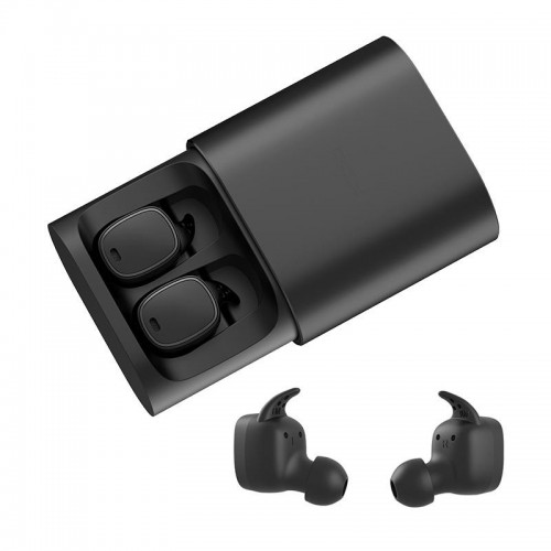 QCY T1 PRO Black Business Bluetooth Earphone With Mic Charging Box