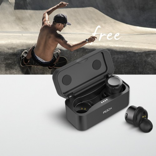 ROCK Twins Mini True Wireless Bluetooth Earphone With Charging Box