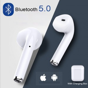 i7s Mini Wireless Bluetooth Dual Headset With Charging Box