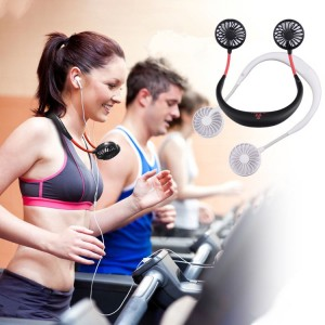 Hands-Free Neck Band Rechargeable Sports Dual Fan