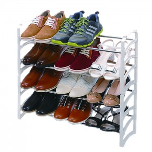4 Layer Stainless Steel Shoe Rack