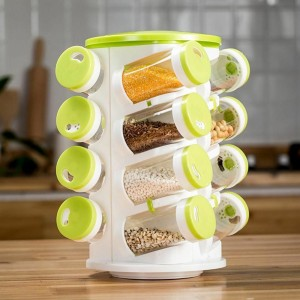 16 IN 1 SPICE PLASTIC KITCHEN STORAGE RACK