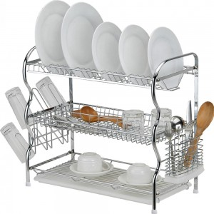 3 LAYER DISH WASH KITCHEN RACK