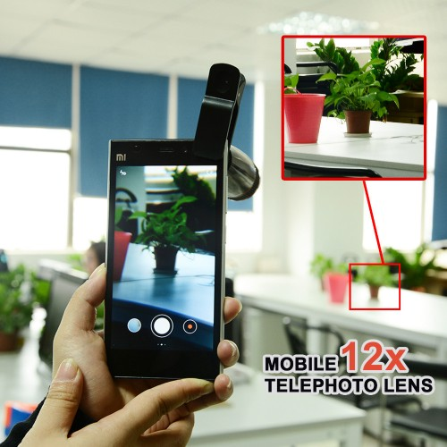 12x Zoom Lens For All Mobile With Blur Effect