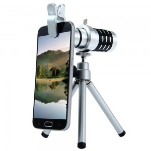 12x Zoom Lens Metal Body For All Mobile With Tripod