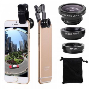 3 In 1 Mobile Clip Lens With Micro Blur Effect