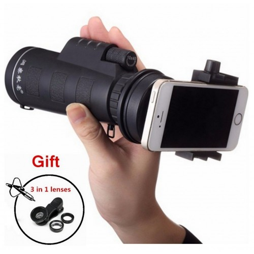 Universal 40x All Mobile Camera Zoom Lens With Blur