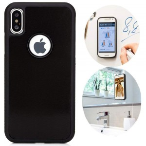 Anti Gravity Nano Suction Cover For IPHONE Black Color