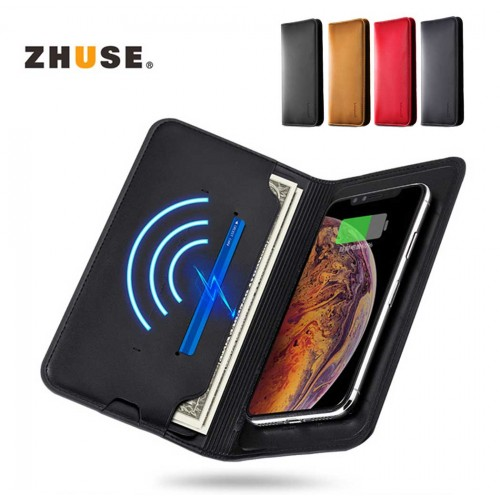 ZHUSE 2 in 1 Wallet With 8000mAh Wireless Powerbank