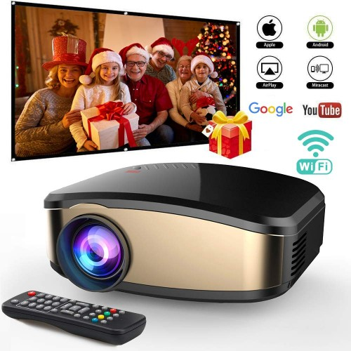 C6 Mini Projector 1080P Full HD 1200 Lumens Home Theater With TV