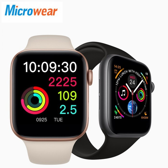 Microwear W55 Series 5 44MM Bluetooth Call Support Rubber Strap Smart Watch